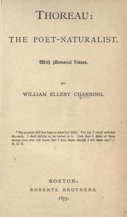 Thoreau by Channing, William Ellery