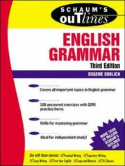 Cover of: Schaum's outline of theory and problems of English grammar