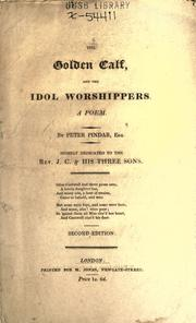 Cover of: The golden calf and the idol worshippers