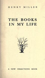 Cover of: The books in my life