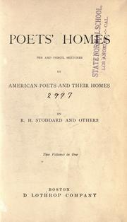 Cover of: Poets' homes