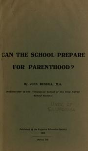 Cover of: Can the school prepare for parenthood?