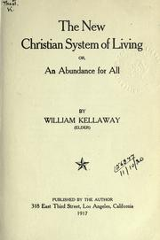 Cover of: The new Christian system of living