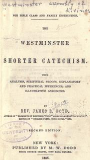 Cover of: Shorter catechism