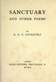 Cover of: Sanctuary, and other poems