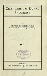 Cover of: Chapters in rural progress by Kenyon L. Butterfield