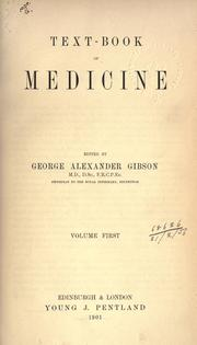 Cover of: Text-book of medicine