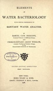 Cover of: Elements of water bacteriology