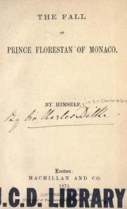 Cover of: The fall of Prince Florestan of Monaco