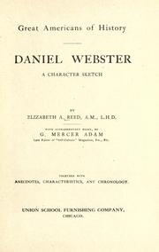 Cover of: Daniel Webster, a character sketch