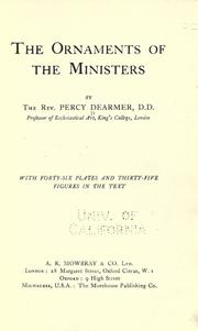 Cover of: The ornaments of the ministers
