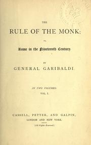 Cover of: The rule of the monk