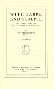 Cover of: With sabre and scalpel