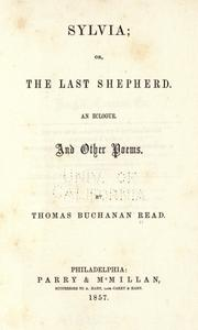 Cover of: Sylvia, or, The last shepherd
