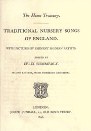 Cover of: Traditional nursery songs of England