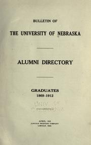 Cover of: Alumni directory