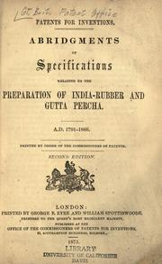 Patents for inventions by Great Britain. Patent Office.