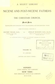 Cover of: Nicene and post-Nicene Fathers of the Christian Church, Volume VI |