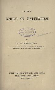 Cover of: On the ethics of naturalism