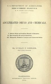 Cover of: Adulterated drugs and chemicals