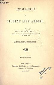 Cover of: Romance of student life abroad
