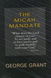 Cover of: The Micah mandate