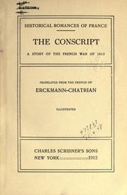 Cover of: The conscript: a story of the French War of 1813