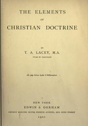 Cover of: The elements of Christian doctrine