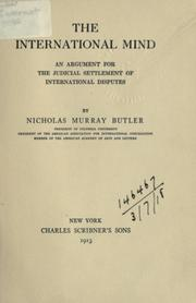 Cover of: The international mind