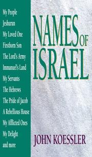 Cover of: Names of Israel
