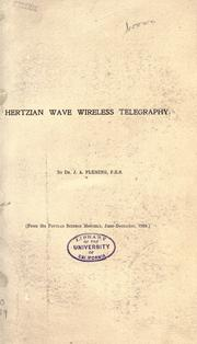 Cover of: Hertzian wave wireless telegraphy