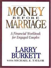 Cover of: Money before marriage
