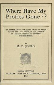 Cover of: Where have my profits gone?