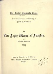 Cover of: Pleasant historie of the two angrie women of Abington