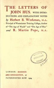 Cover of: The letters of John Hus