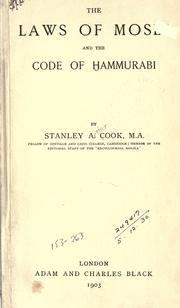 Cover of: The laws of Moses and the Code of Hammurabi