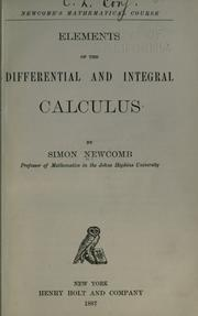 Cover of: Elements of differential and integral calculus
