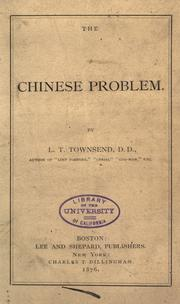 Cover of: The Chinese problem