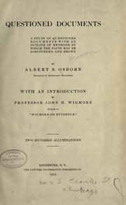 Questioned documents by Albert Sherman Osborn