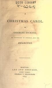 Cover of: A Christmas carol by Charles Dickens