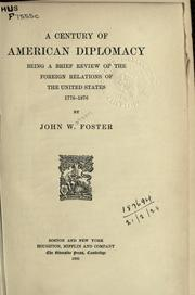 Cover of: A century of American diplomacy