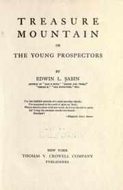 Cover of: Treasure mountain: or, The young prospectors