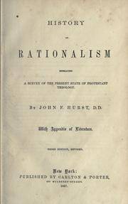 History of rationalism by J. F. Hurst