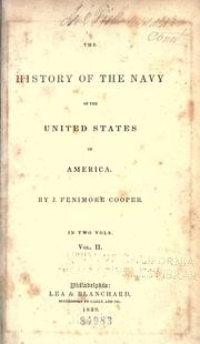 Cover of: The history of the Navy of the United States of America