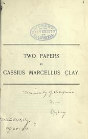 Cover of: Two papers