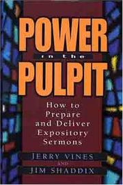 Cover of: Power in the pulpit