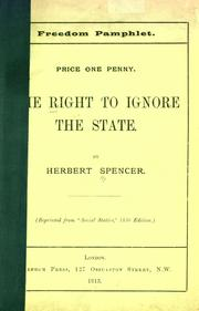 Cover of: The right to ignore the state