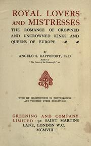 Cover of: Royal lovers and mistresses