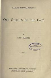 Cover of: Old stories of the East