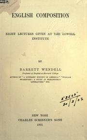 Cover of: English composition